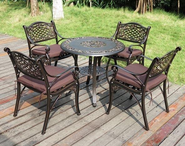 【南洋風休閒傢俱】戶外休閒桌椅系列-鋁管伊莉莎白戶外編織餐桌椅 戶外庭園休閒餐桌椅