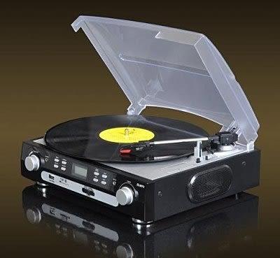 留聲機黑膠LP唱片機自帶音響【藍星居家】