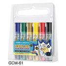 [奇奇文具] 【雄獅 SIMBALION 彩繪筆】GCM-61 (基本色) 酷樂貼(可撕)彩繪筆 6色/盒