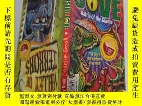 二手書博民逛書店dinosaur罕見cove battle of the giants 恐龍灣巨人之戰Y200392