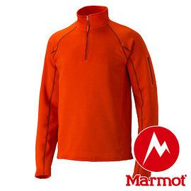 Marmot Stretch Fleece 1/2 Zip 男立領長袖刷毛暖衣 橘 80890 保暖衣