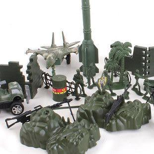 袋裝兵人火箭炮系列軍事基地仿真模型