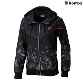 K-SWISS Gradient Windbreaker風衣外套-女-黑