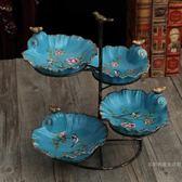 蛋糕水果架美式復古創意多層果盤客廳水果盤架子糖果盤家用拼盤歐式收納飾品 年終尾牙