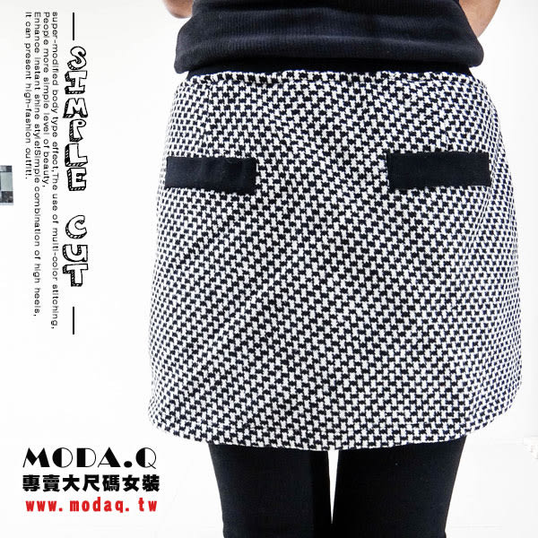 *MoDa.Q中大尺碼*【J3070F】秋冬必備假兩件皮革蝴蝶結造型內搭裙褲
