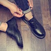 皮鞋男鞋子女鞋子男鞋英倫休閒皮鞋林彎彎大頭鞋韓版37碼小碼馬丁靴潮學生【下殺85折起】