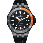 EDOX Delfin 水上冠軍專業300米防水石英錶-黑/43mm E53015.357GNOCA.NIN