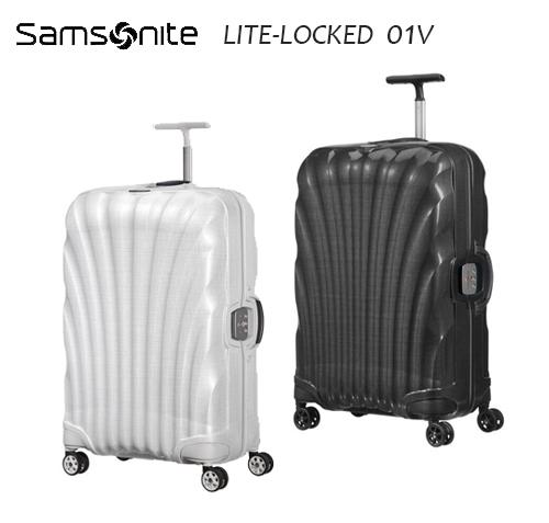 6折特價Samosnite 新秀麗 Lite-locked FL 01V 25吋行李箱 Curv® 材質 新升級版雙軌輪 置衣隔板+送好禮