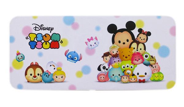 【卡漫城】 Tsum 鐵筆盒 粉色 ㊣版 鉛筆盒 米奇 史迪奇 瑪莉貓 單層 馬口鐵製 Q版 迪士尼 Disney 日版