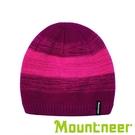 【Mountneer】美麗諾羊毛保暖針織帽『紫紅』12H65 保暖帽 防寒帽 冬帽 防風帽 禦寒帽 毛線帽 針織帽