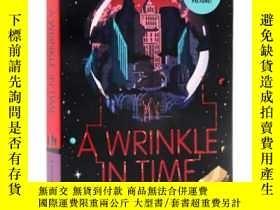 二手書博民逛書店A罕見Wrinkle in Time 時間的皺摺英文原版 迪斯尼