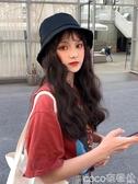 假髮帽帽子女韓版潮百搭網紅漁夫帽子假髮一體式女夏天時尚長卷髮水波紋  COCO