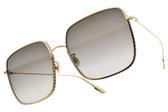 Dior太陽眼鏡 BY DIOR3F 00086 (金-漸層灰鏡片) 熱門經典方框 精品墨鏡 #金橘眼鏡