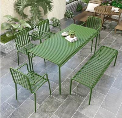 戶外桌椅 現代戶外休閒桌椅庭院簡約陽台小桌椅鐵藝室外露天桌椅套裝組合【幸福小屋】