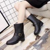 防水雨鞋 春秋季時尚中筒女士馬丁雨靴成人雨鞋女生防滑水鞋韓版套鞋膠鞋潮 小宅女