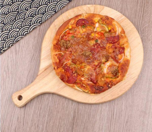 春季上新 披薩木托盤比薩板木質面包板木蛋糕盤式家用托盤大號