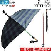 【海夫健康生活館】Weiyi 正昌 三合一 登山杖 健走杖 傘杖(JCSU-J01/草原綠)