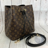 BRAND楓月 LOUIS VUITTON LV 路易威登 M44020 黑色 原花 NEONOE 水桶包 斜背包