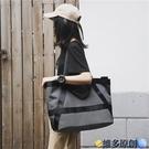 托特包 通勤單肩大包包女2021新款休閒購物布袋簡約大容量手提托特帆布包 維多原創