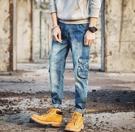 找到自己品牌 時尚潮流 日系 男 修身 棉 彈力 多口袋 九分褲 小腳褲 牛仔褲 直筒褲