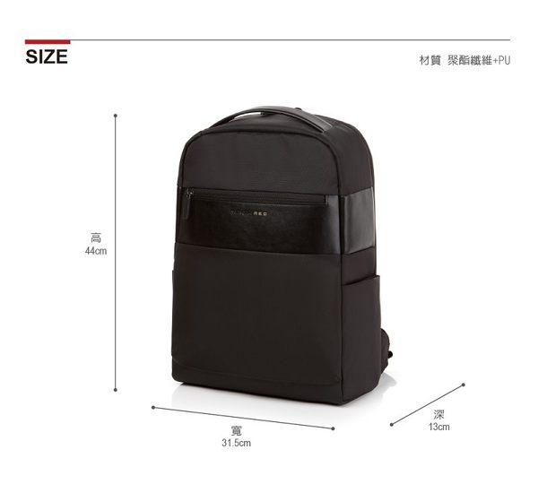 Samsonite RED  ANTONN  新穎潮流中性休閒筆電後背包14 (黑)