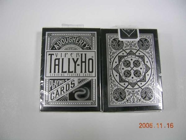 TALLY-HO 銀粉蛇 VIPER 撲克牌 UV500 扇形背 FAN