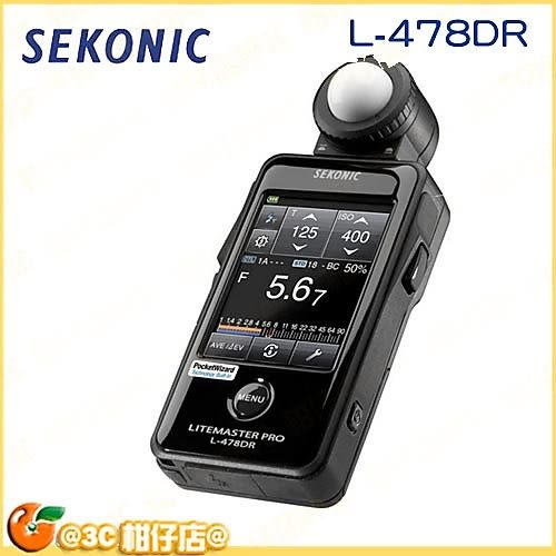送鏡頭筆 SEKONIC L-478DR L478DR 攝影 電影 測光表 2.7 LCD 觸控螢幕 Litemaster Pro 正成公司貨