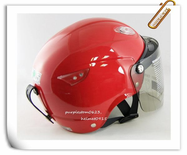 林森●GP-5半罩安全帽,半頂式,瓜皮帽,雪帽,033,紅