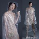 時尚透明雨衣長款全身外套女演唱會成人徒步加長男電動電瓶車雨披 蘿莉小腳丫