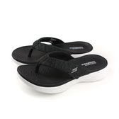 SKECHERS ON-THE-GO SANDALS 夾腳拖鞋 人字拖 黑色 15304BKW no826