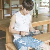 純棉夏季青少年坎肩男生運動韓版修身型打底寬鬆背心無袖T恤 港仔會社