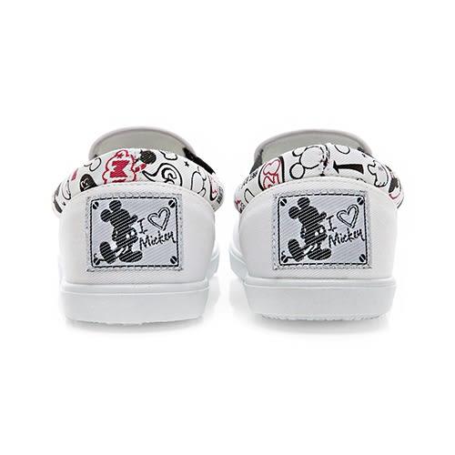 Disney 可愛手繪 漫畫風米奇輕便懶人鞋-白