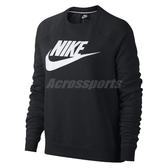 Nike 長T Sportswear Rally 女款 大學T 大學服 長袖 上衣 黑白 黑 白 【PUMP306】 930906-010