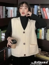 毛衣背心 2020春秋新款針織馬甲女背心學生韓版百搭寬鬆外穿毛衣馬夾外套潮 愛麗絲