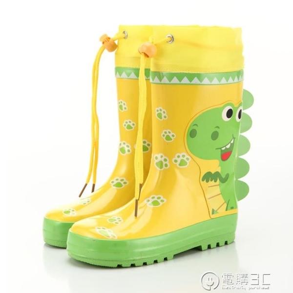 戶外游兒童雨鞋男童女童卡通汽車恐龍兔子防滑高筒寶寶水鞋雨靴 聖誕節免運