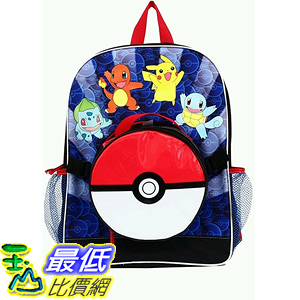 [美國直購] 神奇寶貝 精靈寶可夢周邊 Pokemon KAA23584345B Large Backpack and Pokeball Insulated Lunchbox Lunch Bag