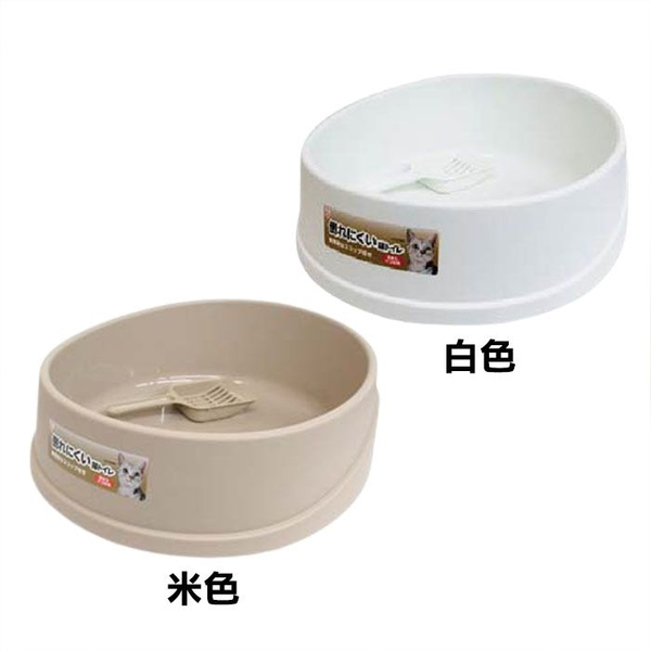 ◆MIX米克斯◆日本IRIS.梯形貓便盆 OCLP-390 (白 / 米)