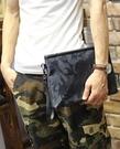 FINDSENSE Z1 韓國 時尚 潮 男 迷彩尼綸布 手提包 手拿包 皮夾包