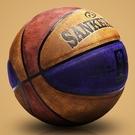 ▶籃球真皮牛皮手感 耐磨翻毛軟皮7號中學生比賽室外水泥地籃球