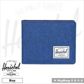 Herschel 皮夾  Roy 短夾  單寧布藍  經典多卡短夾 Roy-1335  MyBag得意時袋