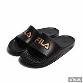 FILA 拖鞋 SANDEL 防水 一體成型 黑金色-4S355T009