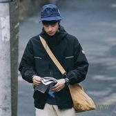 保暖沖鋒衣夾克男外套連帽上衣寬松春秋季情侶工裝【繁星小鎮】