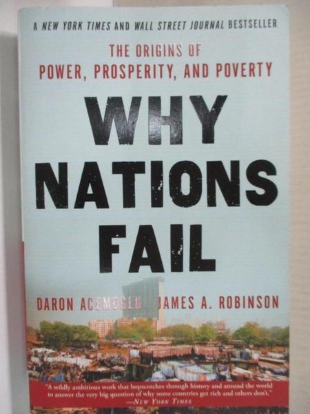 【書寶二手書T1/社會_HZS】Why Nations Fail_Acemoglu, Daron/ Robinson, James A.