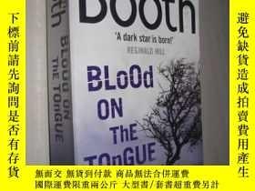 二手書博民逛書店英文原版罕見Blood on the Tongue by Ste