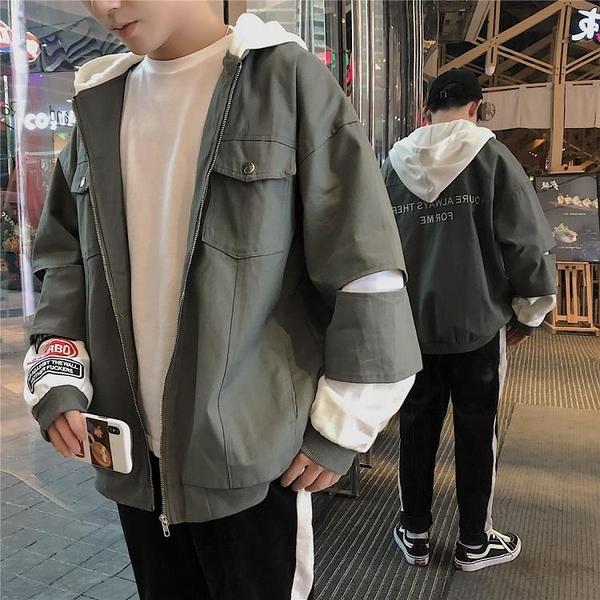 飛行外套秋季外套男正韓潮流學生百搭連帽迷你新品寬鬆帥氣棒球外套休閒夾克