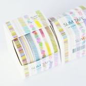 【BlueCat 】SLIM 手繪色鉛筆風格6 色盒装紙膠帶