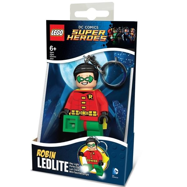 樂高鑰匙圈 DC英雄 黑暗騎士蝙蝠俠 羅賓 人偶造型LED 鑰匙圈鎖圈 盒裝 COCOS LG320