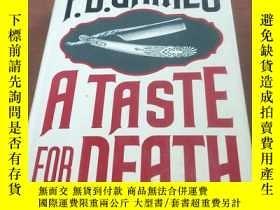 二手書博民逛書店A罕見TASTE FOR DEATH(1986年英文原版,精裝毛