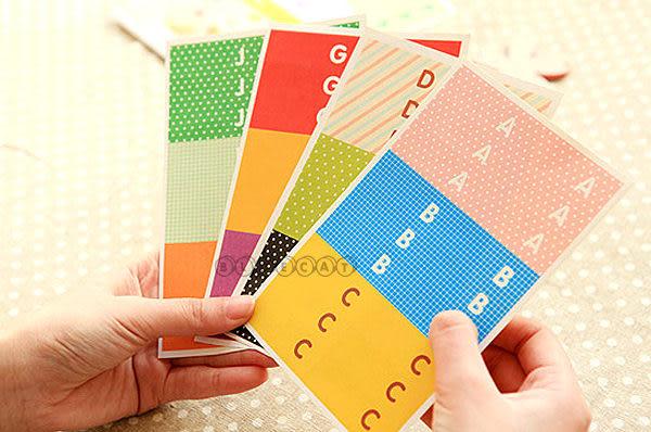 【BlueCat】韓風FLAG快樂野餐DIY字母小旗幟造型裝飾貼紙組 (1組10入)
