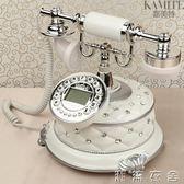 歐式仿古電話機座機美式電話機賓館家用白色固定辦公古董復古電話   潮流衣舍